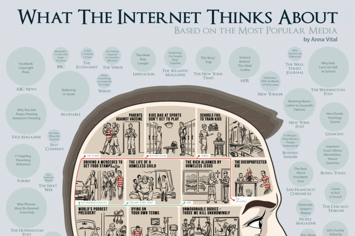 what the internet thinks about based on popular media infographic