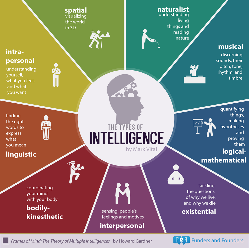 9 types of intelligence infographic 9 types of intelligence infographic