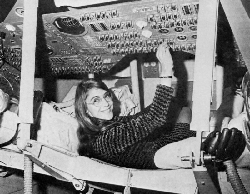 Margaret Hamilton - lead software engineer of Appolo, in action